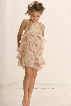 df60b3e5f41 BC 164 - Biscotti Girls Dress Style 164 Gold - Biscotti - Flower Girl Dress  For Less