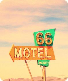 66 Motel neon sign - Needles, CA #BoulderInn