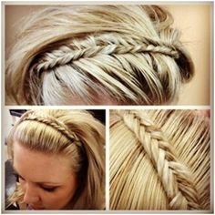 Cute Long Fishtail Braid Hair No tutorial unfortunately, 2 sentence how to but not a clear demonstration.