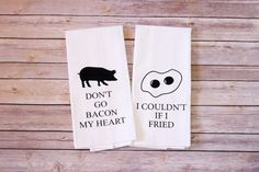 Funny Song Lyric Tea Towels Flour Sack Towels by A2DCreations