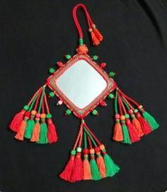 1 par de diseñador indio bollywood latkans Diamonte más reciente de Decoración Borlas