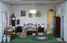 Bedroom Bed, Bedrooms, Barbie Furniture, Small World, Boudoir, Beds, Miniatures, Houses, Dolls