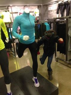 Shopping with kids.