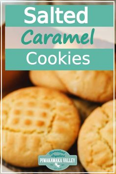 This easy recipe is a favourite in our household and salted caramel cookies are often requested. These are crunchy, chewy and oh so yummy. Beginner Baking Recipes, Caramel Biscuits, Salted Caramel Cookies, Cookies From Scratch, Sugar Free Baking, Home Baking, Biscuit Recipe, Baking Biscuits, Cookie Recipes