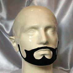 Prince Goatee detailed black latex beard prosthetic for Beard No Mustache, Beards, Latex, Prince, Skull, Detail, Black, Black People, Skulls