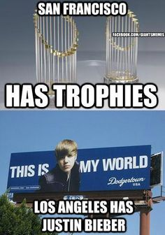 True story. Ha ha yes. Another reason the Dodgers suck and that the Giants are awesome.