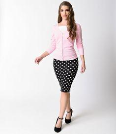 Light Pink Long Sleeve Button Up Knit Cardigan