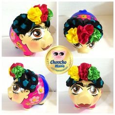Ideas Para Fiestas, Piggy Bank, Diy And Crafts, Birthday, Party, Instagram, Pigs, Vestidos, Frida Khalo