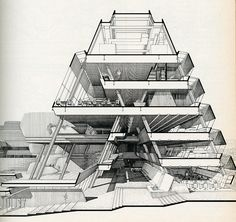 Architectural Drawings, Models, Photos, etc... — rndrd: Paul Rudolph. Architectural Record. Nov...