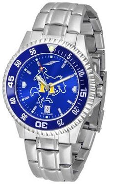 Mcneese State University Cowboys Competitor Anochrome - Steel Band W/ Colored Bezel - Men's - Men's College Watches by Sports Memorabilia. $87.08. Makes a Great Gift!. Mcneese State University Cowboys Competitor Anochrome - Steel Band W/ Colored Bezel - Men's