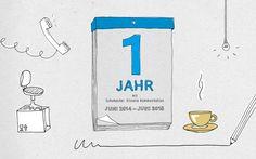 Ein Jahr mit uns – eine #infografik #illustration #jahresrückblick