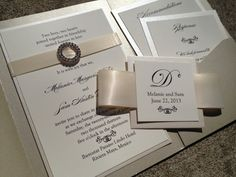 wedding invitations with pocket | Pocket Wedding Invitations With Ribbon free for your party. Get this ...