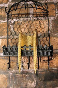Hammered Gold Fringe Chain Arm Cuff by ForLoveTheBoutique on Etsy