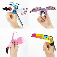 Printable bird finger puppets.