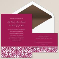 Love's Reflection Wedding Invitation | #exclusivelyweddings