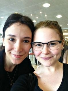 "Former ""Game of Thrones"" actress Sibel Kekilli poses for a selfie with fan Antonia Niecke (Instagram: @Toniecke) at the Harbourfront Literaturfestival in Hamburg, Germany June 21, 2015."