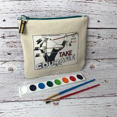 Artsy Bag Small Pouch Zipper Bag Art Bag Cosmetic Bags