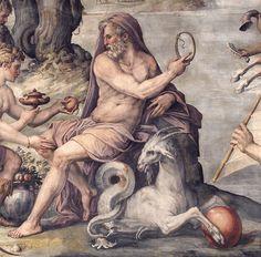 Saturn at Palazzo Vecchio, fresco Florence