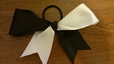 Black and White Tick Tock Bow by EsbeeEtsy on Etsy, $10.00