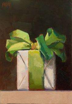 What a clever idea to paint beautifully wrapped gifts. I featured Karen Appleton in one of my earliest posts ( here ) and have just discove. Painting Still Life, Still Life Art, Illustrations, Illustration Art, Christmas Paintings, Noel Christmas, Oeuvre D'art, Painting Inspiration, Design Inspiration