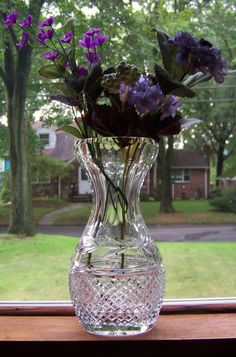 Vintage Waterford Crystal Vase Collector's by PaintedOnPlaques, $125.00