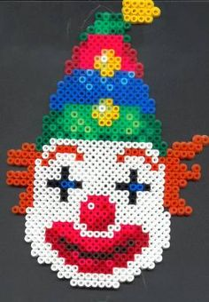 Clown Hama perler beads by zaza57