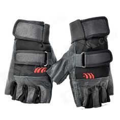 Tactical Series Half-Finger Gloves - Black (Pair / Size L) Price: $9.50