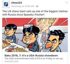 US vs Russia in Baku Chess Olympiad Martial Arts Movies, Kung Fu, Chess, Eagle, Baseball Cards, Youtube, Movie Posters, Russia, Gingham