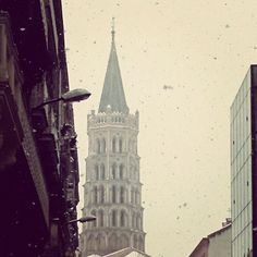 We caught some snow on our visit to and it just made the city look even more beautiful Toulouse, Scentsy, Empire State Building, Snow, Tours, France, City, World, Travel