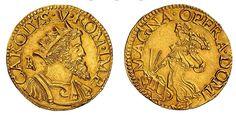 Italian States/Naples/Spanish Rulers AV Doppio Ducato ND Naples Mint Carolus V Imperatore
