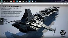Image updated with completed model and better light settings This is hard work! The Aftermath Advanced Capital Assault Supercarrier (ACAS) is the largest fighting ship in Hexiron. Measuring a mindb. Spaceship Art, Spaceship Design, Concept Ships, Concept Art, Nave Star Wars, Starship Concept, Capital Ship, Future Weapons, Sci Fi Ships