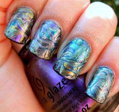 The Polished Mommy: Bohemian Needle drag nail art.