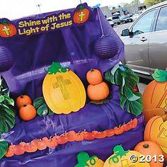 Christian Pumpkin Trunk or Treat Car Decorations