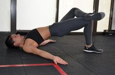 16-Minute Tone-Everything Workout: Single-Leg Floor Bridge | Form Tip: Push through your heel of the bottom foot to drive hips up further.