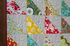 triangle quilts   pussycat baby quilt bird in the woods mini quilt wheels quilt ...