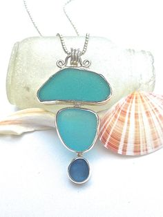 Sea glass wave charm necklace tiny reversible charm sea glass turquoise aqua sea glass necklace beach glass pendant sea glass jewelry beach mozeypictures Image collections