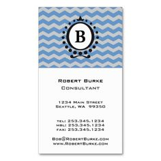 """Customize It Monogram Business Cards - many monogram styles to choose, change color, change fonts with easy to use """"Customize It"""" feature."""