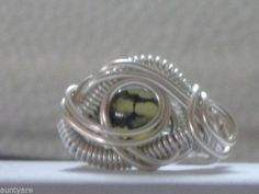 DRAGON EYE DRAGON VEIN BEADED SILVER RING
