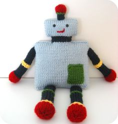 PDF - Knit Toy Robot Pattern: Looks very friendly.