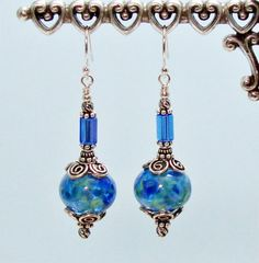 Joy to the World  Lampwork Glass and Bali by CreativelyJeweled, $59.95