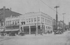 NE corner of Main and Exchange - 1916