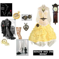 """""""beauty ( the beast steampunk"""" Steampunk Belle, Steampunk Cosplay, Steampunk Wedding, Steampunk Clothing, Steampunk Fashion, Disney Inspired Outfits, Disney Outfits, Disney Fashion, Steampunk Disney Princesses"""