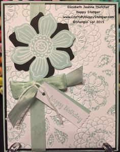 Stampin Up Bloom for you stamp set and And Many More card. Birthday Wishes cyci 79