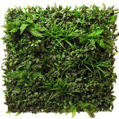 Rustic+fern+themed+artificial+green+wall+foliage
