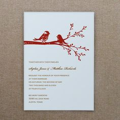 Love Birds A7 Invitation Template