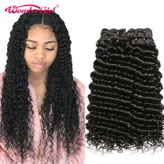 Cheap Hair Weaves, Buy Directly from China 30 Inch Bundles Deep Wave 4 Bundles Deal Peruvian Hair Bundles Wonder girl Remy Hair Extensions Human Hair Bundles No Shed Indian Hairstyles, Weave Hairstyles, Peruvian Hair Weave, Hair Weft, Hair Weaves, Remy Hair Extensions, Remy Human Hair, Brazilian Hair, Textured Hair