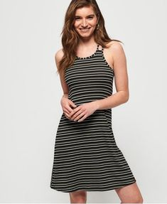 Buy Superdry Willis Stripe Swing Dress from the Next UK online shop Robe Swing, Swing Dress, Dress Up, Comfy Dresses, Beach Dresses, Khaki Dress, Green Dress, Superdry Style, Casual Look