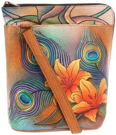 f1dbc09574032a Anuschka 493 $124.05 PKL Shoulder Bag, Peacock Lily, One Size Anuschka 100%  leather
