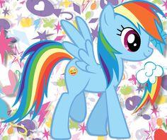 Rainbow Dash - Crazy Face Emoji Cutie Mark