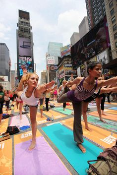 Jun 20, 2012: Summer Solstice yoga in tsquare. (This sounds kinda awesome but also like torture)
